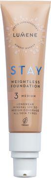 Lumene Stay weightless Foundation 3 Medium Foundation, 30 ml