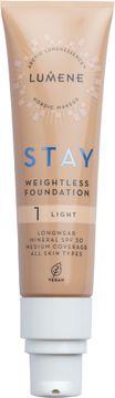 Lumene Stay weightless Foundation 1 Light Foundation, 30 ml