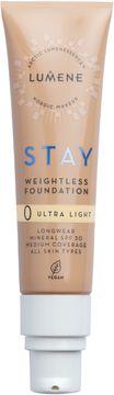 Lumene Stay weightless Foundation 0 Ultra Light Foundation, 30 ml
