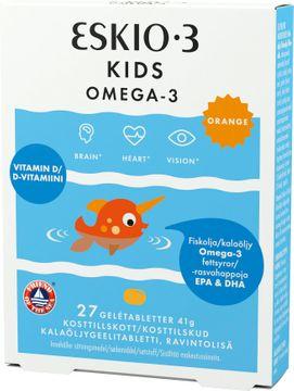 Eskio-3 Kids Omega-3 Gelétabletter, 27 st