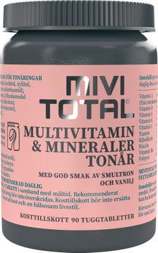 Mivitotal Tonår Tuggtablett, 90 st
