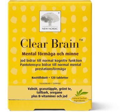 New Nordic Clear Brain Tablett, 120 st