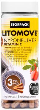 Litomove Nyponpulver Vitamin C Kapsel, 190 st