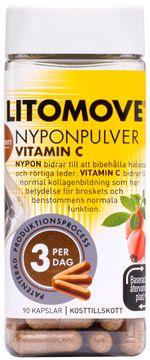 Litomove Nyponpulver Vitamin C Kapsel, 90 st