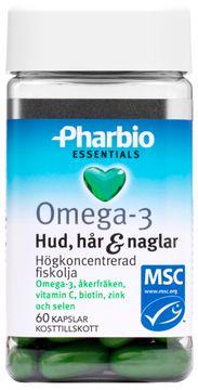 Pharbio Omega-3 Essentials Hud, hår & naglar Kapsel, 60 st