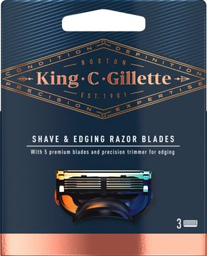 King C Gillette Precision Carts Rakblad, 3 st