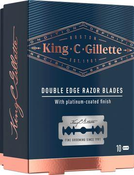 King C Gillette Double Edge Blades Säkerhetsrakblad, 10 st