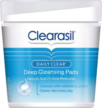 Clearasil Daily Clear Deep Cleansing Pads Ansiktsrengöringspads, 65 st