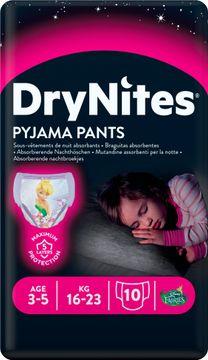 DryNites Pyjama Pants Girl 3-5 år Nattblöja, 10 st