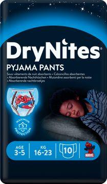 DryNites Pyjama Pants Boy 3-5 år Nattblöja, 10 st
