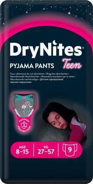 DryNites Pyjama Pants Girl 8-15 år Nattblöja, 9 st