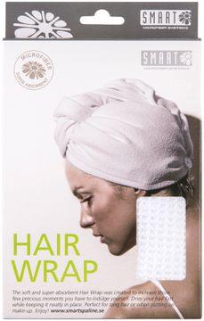 Smart Microfiber Hairwrap White Handduk för hår, 1 st