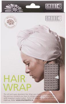Smart Microfiber Hairwrap Gray Handduk för hår, 1 st