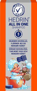 Hedrin All in One Shampoo Lusmedel, 200 ml