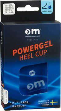 Ortho Movement Powergel Heel Cup Small/Medium Skoinlägg, 1 par