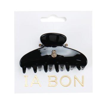 Ia Bon Hair Claw Glossy Black Hårklämma, 1 st