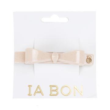 Ia Bon Bow Clip Sparkling Nude Pink Hårklämma, 1 st