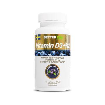 Better You Vitamin D3+K2 Kapslar, 60 st