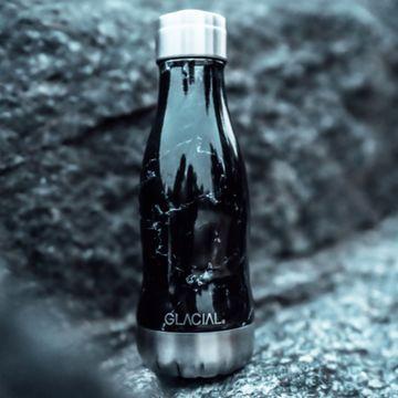 Glacial Black Marble 260 ml Vattenflaska, 1 st
