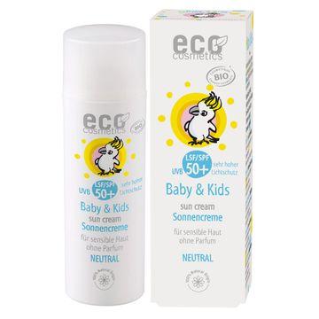 Eco Cosmetics Baby & Kids Sunscreen Neutral SPF 50+ Solskydd för barn, 50 ml