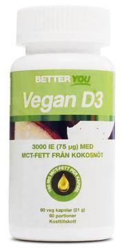 Better You Vegan D3 3000Ie + Mct-Fett Kapslar, 60 st
