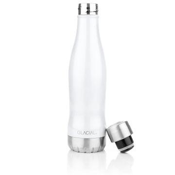 Glacial White Pearl 400 ml Vattenflaska, 1 st