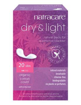 Natracare Inkontinensskydd Dry + Light Slim Inkontinensskydd, 20 st