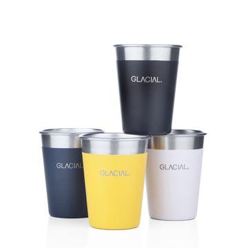 Glacial 4-pack Mixed Matte Color Cup Set Vattenflaska, 1 st