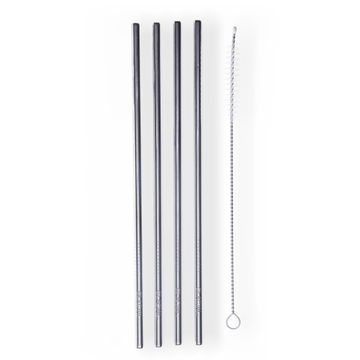 Glacial 4-pack Stainless Steel Straw set Vattenflaska, 1 st