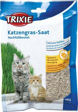 Trixie Mjukt kattgräs Refill Kattgräsfrön, 100 g