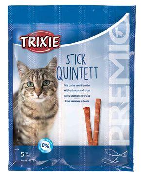 Trixie Premio Stick Quintett Lax Öring Kattgodis, 5x5 g