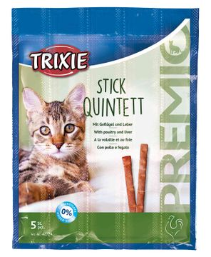 Trixie Premio Stick Quintett Fågel Lever Kattgodis, 5x5 g