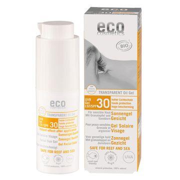 Eco Cosmetics Transparent Oil Gel SPF 30 Solskydd, 30 ml