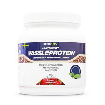 Better You Laktosfritt Vassleprotein Jordgubb Pulver, 400 g
