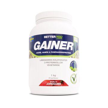 Better You Whole Food Gainer Jordgubb Pulver, 1 kg