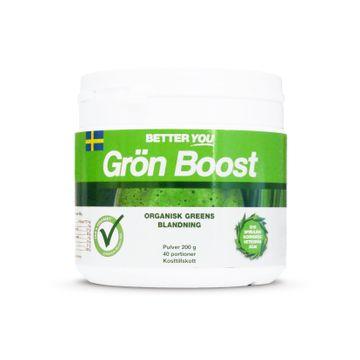 Better You Grön Boost Pulver Naturell Pulver, 200 g