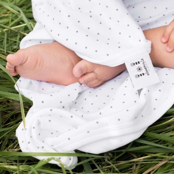 Summerville organic Babyfilt Vit Prickig Eko Babyfilt