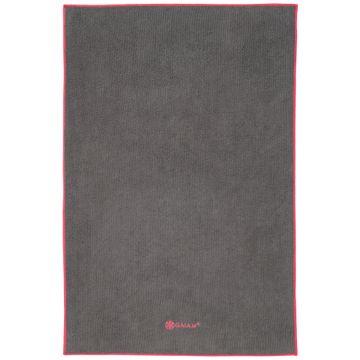 Gaiam Yoga Hand Towel Frost Grey/Fuchsia Red Snabbtorkande yogahandduk, 1 st