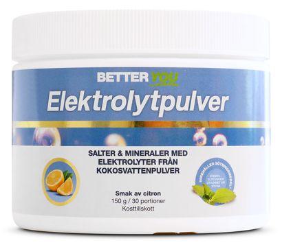 Better You Elektrolytpulver Citron Pulver, 150 g