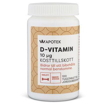 Kronans Apotek D-vitamin 10 ug Tabletter, 100 st