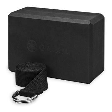 Gaiam Block-Strap Combo Black Yogablock, 1 st