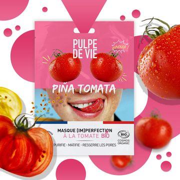 Pulpe de Vie Pina Tomata Imperfection Sheet Mask Ansiktsmask, 20 ml
