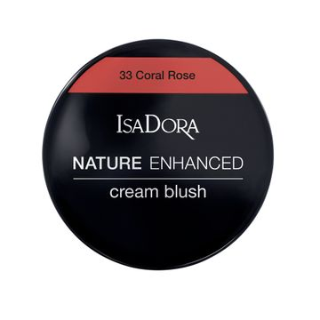 Isadora Nature Enhanced Cream Blush 33 Coral Rose Rouge, 3 g