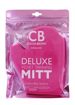 Cocoa Brown Velvet Thumb Tanning Mitt Appliceringshandske Brun utan sol. 1 st