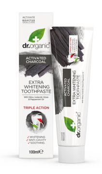 Dr Organic Tandkräm Aktivt Kol Extra Whitening Fluor Tandkräm, 100 ml