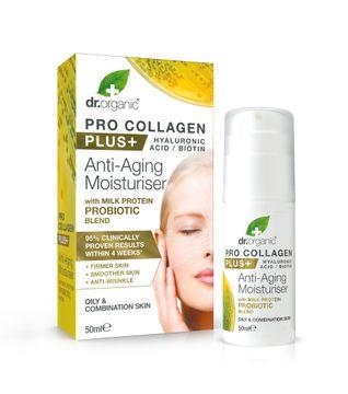 Dr Organic Anti-agingkräm Kollagen Probiotika Ansiktskräm, 50 ml
