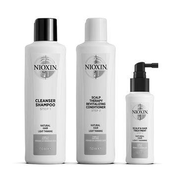Nioxin Trial Kit System 1 Hårvårds-kit, 150+150+50 ml