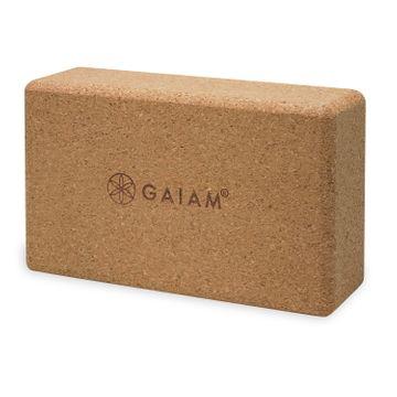 Gaiam Yoga Block Cork Brick Yogablock, 1 st
