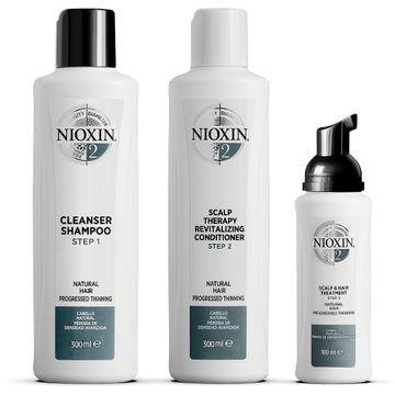 Nioxin Loyalty Kit System 2 Hårvårds-kit, 300+300+100 ml