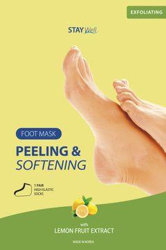 STAY Well Peeling & Softening Foot Mask Lemon Fotmask, 1 st